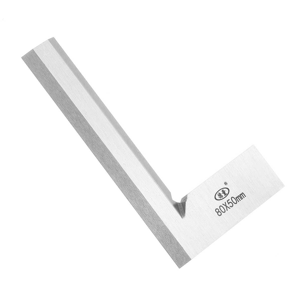 Machinist precyzja krawędzi noża kwadratowa linijka 90 stopni linijka kątowa inżynier narzędzie pomiarowe 63x40/80x50/100x63/125x80mm