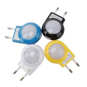 Image 3 - 1 Pc Mini Led Slak Nachtlampje Auto Night Lamp Ingebouwde Licht Sensor Licht Slapen Lamp Socket Voor Baby Kids slaapkamer Eu/Us Plug