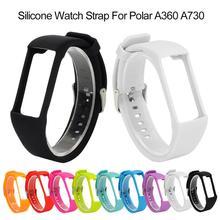 Uniwersalny silikon wymiana paska w zegarku nadgarstek dla Polar A360 A730 GPS smart watch inteligentna bransoletka tanie tanio Pasek zegarka Dorosłych Okręg w Rondaful Inne For Polar A360 A370 GPS watch