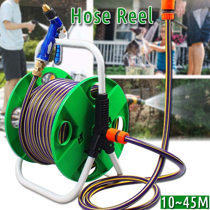 Garden Portable Hoses Reel Garden Wall Mount 10-45M 1/2 Cart Water Pipe Storage Car Washer Pipe Exclude Winding Tool Rack Holder