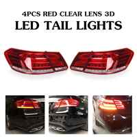 Luces traseras LED para Mercedes-Benz E clase W212 E350 E300 E250 E63 lámparas de Sedán ABS conjunto de luces de repuesto directo para coche 49x19cm