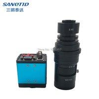 HD 1080P 2.0MP Industrial Microscope Camera VGA USB BNC AV Output Interface Video Camera+0.4X Lens C/CS Interface