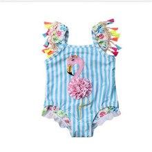 d3318c95ad Badeanzug Kleinkind Kinder Baby Mädchen Flamingo Bikini Set 2019 Neueste  Schwimmen Bademode Badeanzug Badeanzug Strand Kinder Bi.
