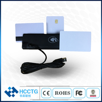 China Mini portable Three All in one Smart Card Reader IC & Mi fare Combo USB Head 3 Track Magnetic Chip Card Reader HCC110