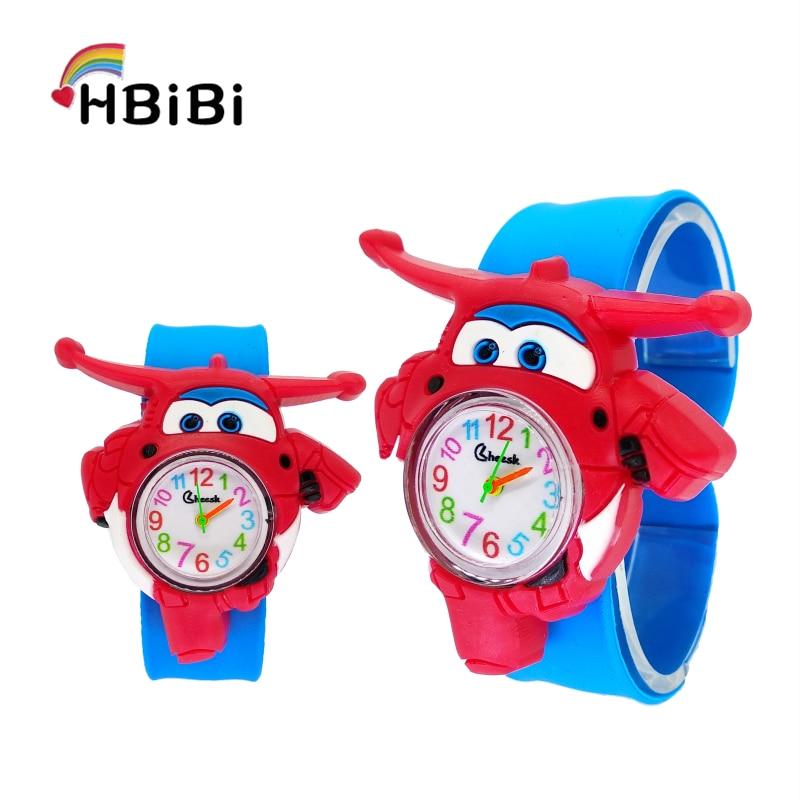 Hbibi Brand Cartoon Aircraft Children's Watches Kids Quartz Watch Child Girls Boys Baby Toy Clock Christmas Gifts Relogio Montre