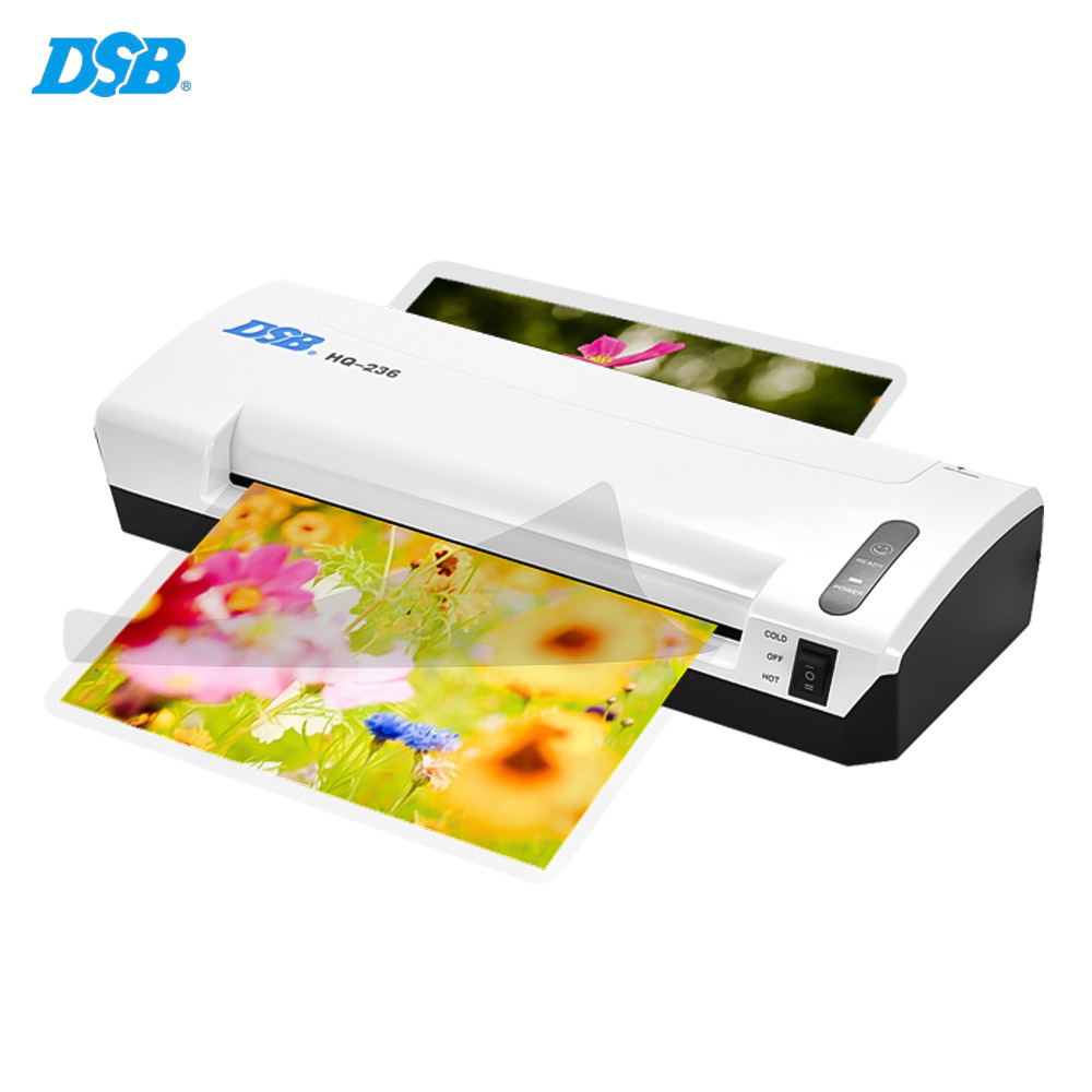 DSB HQ-236 A4 Photo Hot Cold Laminator Free Paper Trimmer Cutter 1.5-2min Warm Up 400mm/min Fast Speed
