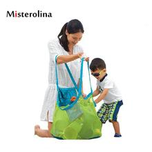 Misterolina Kids Nylon Beach Bag Mens Soft Toys Storage Bags Casual Family Travel Totes Large Capacity Shoulder For Children