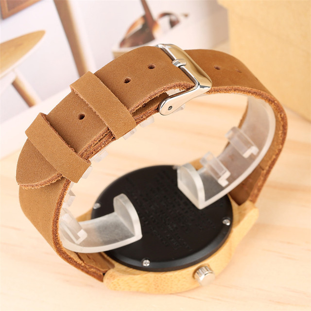 Unique Customized Engraved Wooden Watch Men's Quartz Wrist Watches Best Birthday Anniversary Gifts for Male reloj para hombre 4