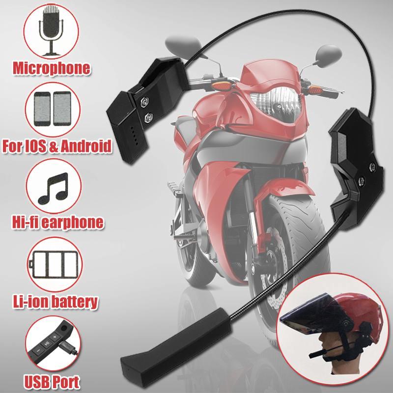 2019 New Motor Wireless Bluetooth Headset Motorcycle Helmet Earphone Headphone Speaker Handsfree Anti-interference For MP3 MP4