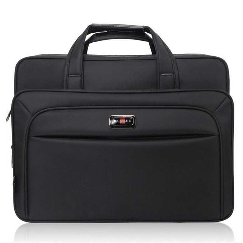 f6797edb2371 ... Высокое качество деловой человек портфель большой емкости мужские  тонкие сумки на плечо 14 15 16 дюймов ...