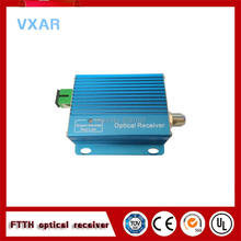 Indoor 2 way output ftth catv optical receiver node