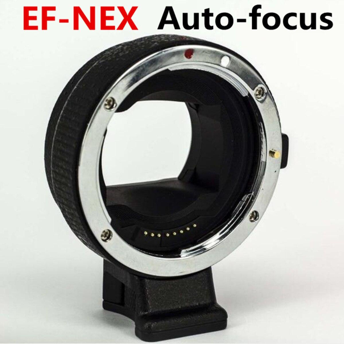Adaptateur d'objectif Focu automatique de EF-NEX pour objectif de montage Canon EOS EF pour adaptateur Sony E NEX A7 A7R II caméra plein cadre