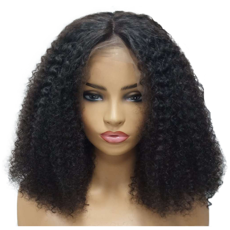 Brazilian Human Hair Afro Kinky Curly Wig For Black Women Short Remy Virgin Hair Lace Front Wig Pre Plucked Atina And To Have A Long Life. Human Hair Lace Wigs Hair Extensions & Wigs