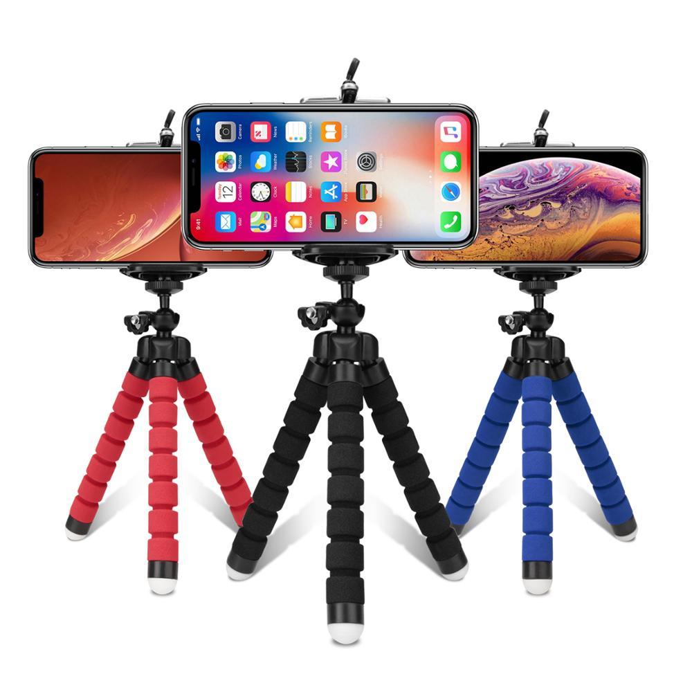 Trípodes trípode para teléfono móvil Cámara soporte Clip smartphone monopié tripie pulpo mini trípode stativ para teléfono