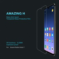 NILLKIN Safety Glass for Xiaomi Redmi Note 8 Screen Protector Amazing H Anti-burst Tempered Glass for Xiaomi Redmi Note 7 8 Pro