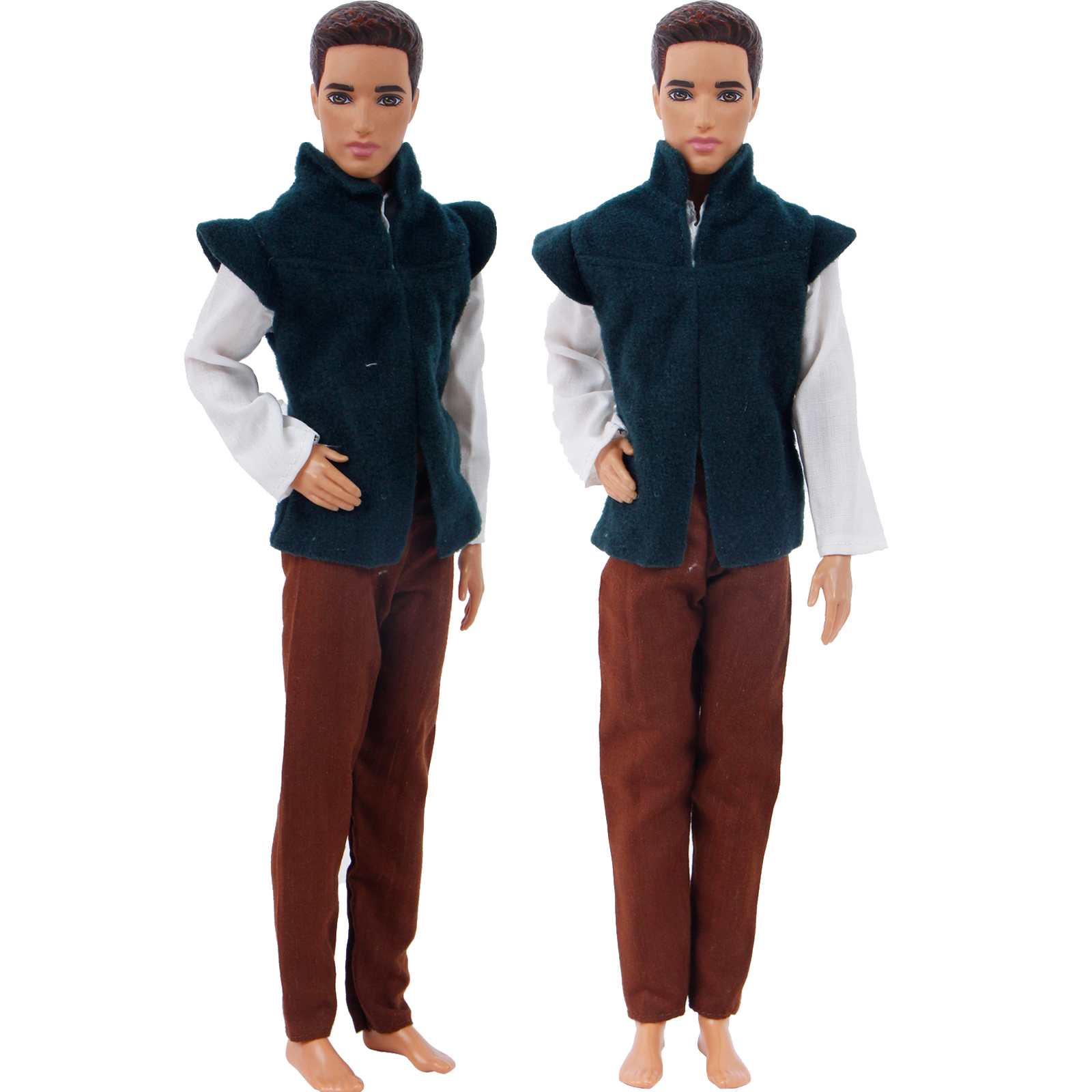 Handmade Mens Doll Outfit Fairy Tale Prince Uniform Party Wear Blouse Pants Clothes for Barbie Doll Friend Ken Doll AccessoriesHandmade Mens Doll Outfit Fairy Tale Prince Uniform Party Wear Blouse Pants Clothes for Barbie Doll Friend Ken Doll Accessories