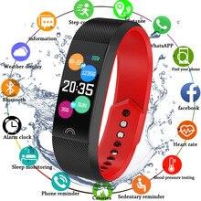 Купить с кэшбэком Smart Band Fitness Bracelet Watch Blood Pressure IP68 Waterproof Fitness Tracker Heart Rate Monitor Pedometer Women Men Watch