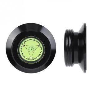 Image 4 - 新ポータブル黒ディスクスタ記録重量クランプlpビニールターンテーブルアルミ素材ディスクスタ