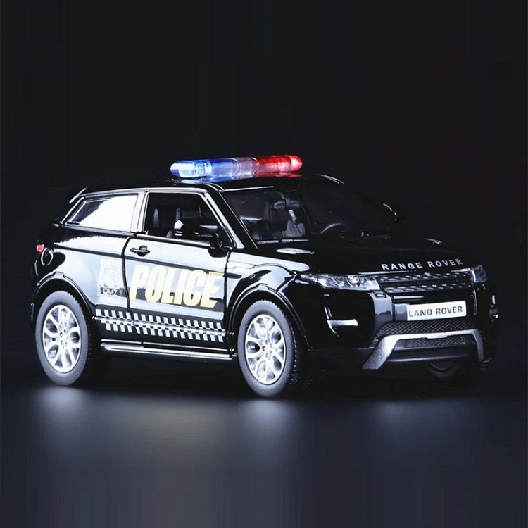 High Simulation Exquisite Die-casts&Toy Vehicles: RMZ City Car Styling Evoque SUV Police CCar 1:36 Alloy Car Model Pull Back Car