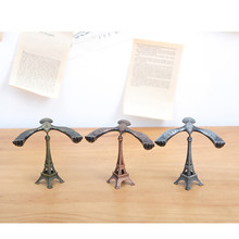 Super Mini Creative Gravity Balance Self Balancing Iron Crafts Eagle Iron Tower Metal Balance Eagle Model Landmark Eiffel Towers(China)