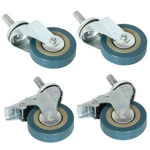 Image 5 - Rotatable castors made of heavy steel and PVC 75mm casters with brake casters for furniture, set of 4 (support wholesale discoun