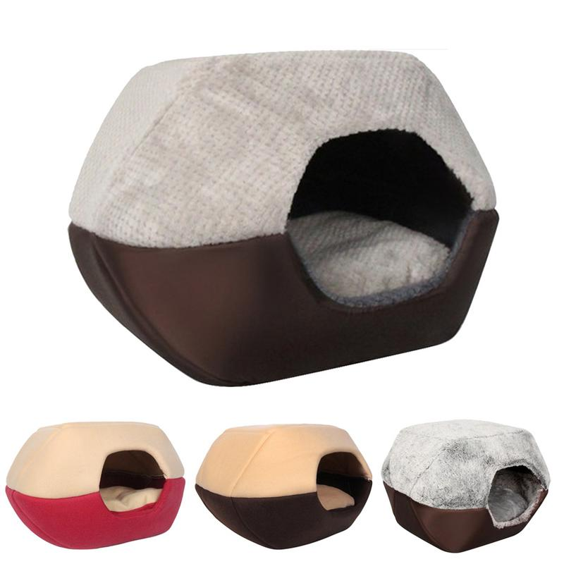 Soft Comfortable Pet Dog Cat House Nest Tent Kennel Doggy Winter Warm Cushion Basket Animal Bed Cave Pet Products Supplies
