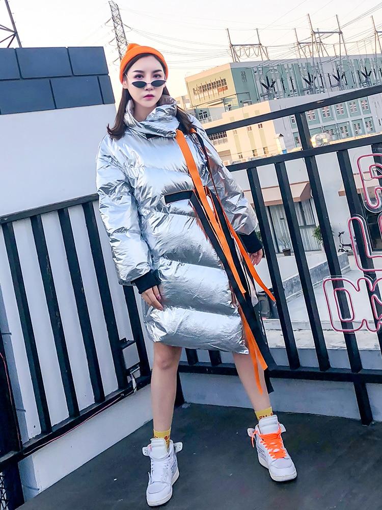 Vêtements Longues Manches Manteau Black Les Irrégulière Lâche Veste Patchwork Femmes silver Bj409 2018 Coton Asymétrique Pour À D'hiver Bonjean OzxwASCqx