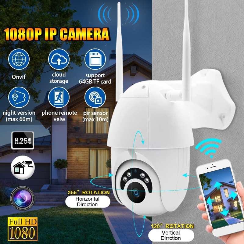 ZOOM HD 1080 P WIFI caméra IP sans fil caméra de Surveillance de sécurité extérieure PTZ dôme de vitesse CCTV 60 m P65 avec câble de prise