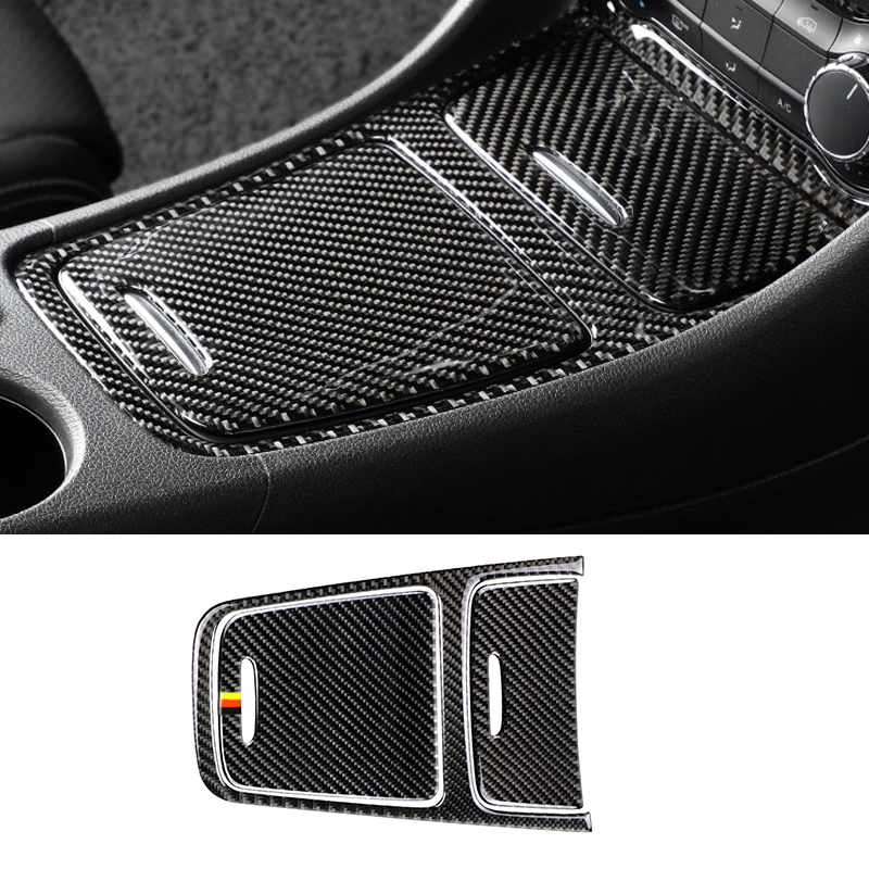 Image 2 - For Mercedes Benz A GLA CLA Class W176 X156 C117 Car Center Control Panel Cigarette Lighter / Storage Box Carbon Fiber Cover-in Interior Mouldings from Automobiles & Motorcycles