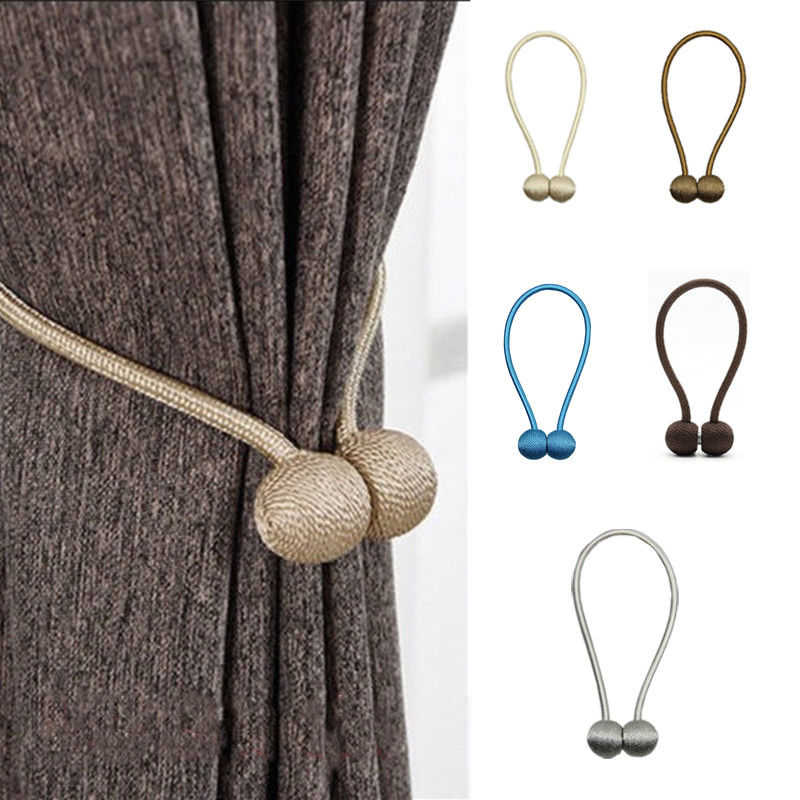 1pc Ball Magnetic Curtain Buckle Holder Tieback Clips Home Window Accessories Curtain Decorative Fashion New