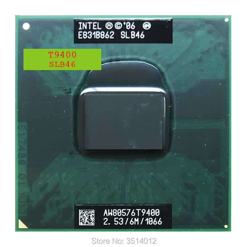 Intel Core 2 Duo T9400 SLB46 SLAYY 2.5 GHz Dual-Core Dual-Thread di CPU Processore 6 M 35 W Socket P