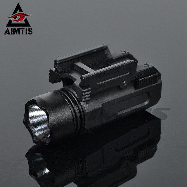 AIMTIS Airsoft Pistol Light Tactical Mini Gun Flashlight QD Quick Release Rifle Torch Glock 17 18C 19 22 20mm Rail Handgun