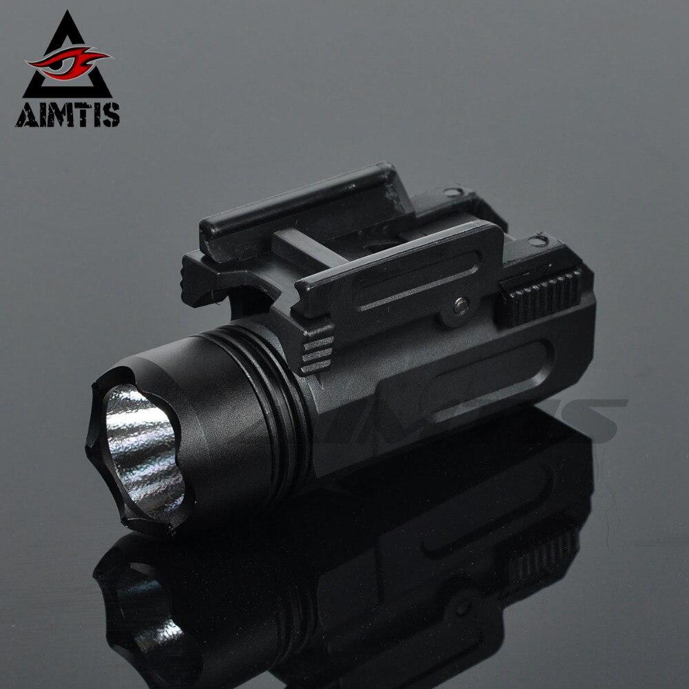 AIMTIS Airsoft pistola luz táctica Mini pistola linterna QD de liberación rápida Rifle antorcha Glock 17 18C 19 22 20mm carril pistola