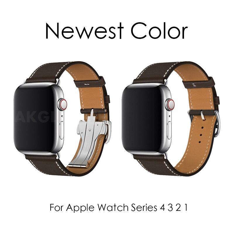 Nieuwste Kleur Pols Gesp Band Voor Apple Horloge 4 40mm 44mm Enkele Tour Band Voor iWatch Serie 3 2 1 riem Bandjes Horlogebanden-in Horlogebanden van Horloges op  Groep 1