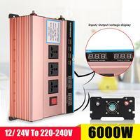 DC 12/24 V к AC 220 V P ЕАК 6000 Вт автомобиль солнечной Мощность инвертор модифицированный синус конвертер USB Напряжение универсальный трансформатор