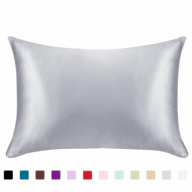 Classic Satin Silk Plain Pillow Case 4