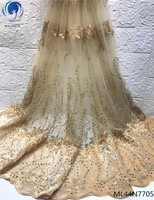 BEAUTIFICAL nigeria embroidery french lace fabric quality tulle embroidery mesh french fabric lace ML44N77