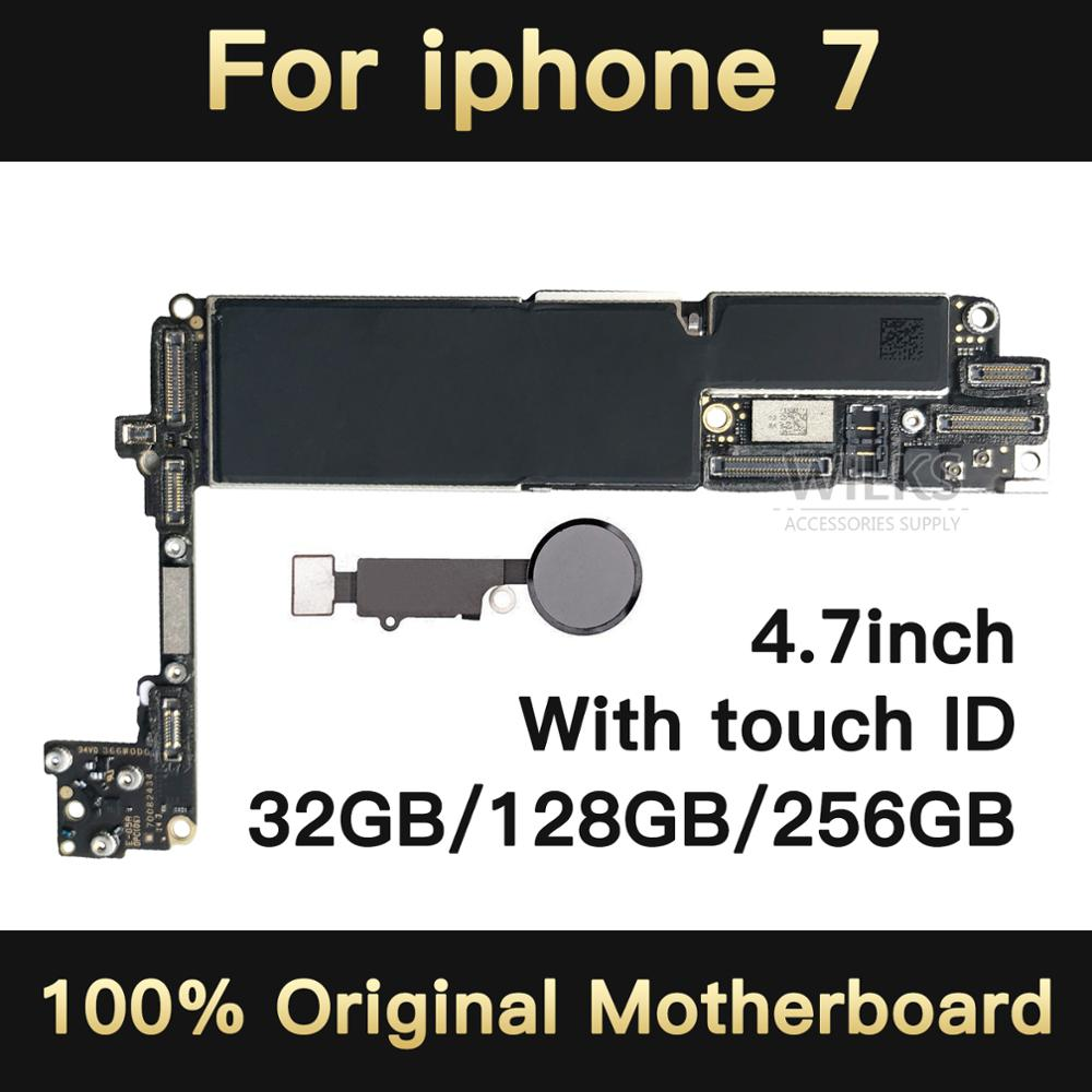 Original unlocked for iphone 7 Motherboard with Touch ID,for iphone 7 Mobile phone Mainboard with Chips,32GB/128GB/256GBOriginal unlocked for iphone 7 Motherboard with Touch ID,for iphone 7 Mobile phone Mainboard with Chips,32GB/128GB/256GB
