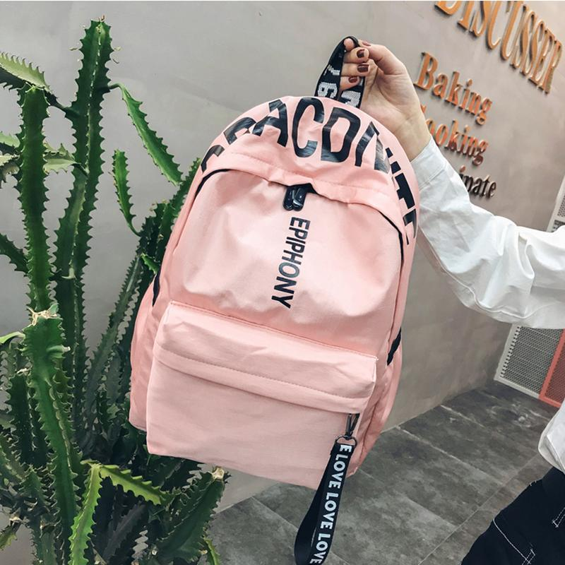 Korean Version Harajuku Style Backpack Campus Versatile Simple Tide Backpack For Men And Women High School Students