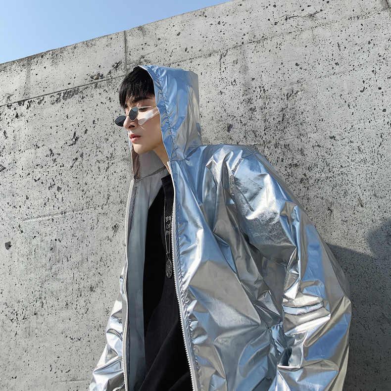 ファッションカジュアル日焼け服男性であってもキャップ UV 保護生地のジャケット愛好家のジャケットフード付き長袖ジッパーのコート