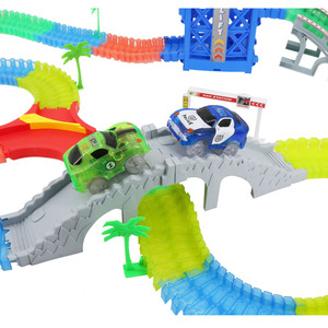 Image 3 - 5.5cm רכב עבור ילד DIY אוניברסלי אביזרי קסום מסלול מצחיק גמיש מסלול זוהר מסלול זוהר בחושך צעצועים לילדים