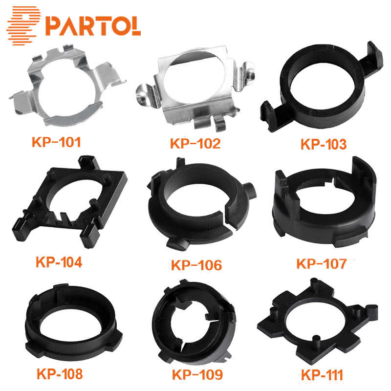 Partol H7 LED Headlight Bulb Adapter Car Light Holder Socket Base For Ford Focus VW Golf MK7 BMW 5 Series Audi A3 A4L A6L NISSAN