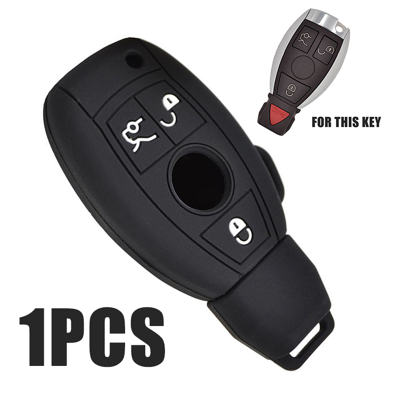 High Protective 3 Button <font><b>Key</b></font> Case Durable Silicone <font><b>Remote</b></font> Car <font><b>Key</b></font> Cover Protector For Mercedes Benz W203 <font><b>W211</b></font> image