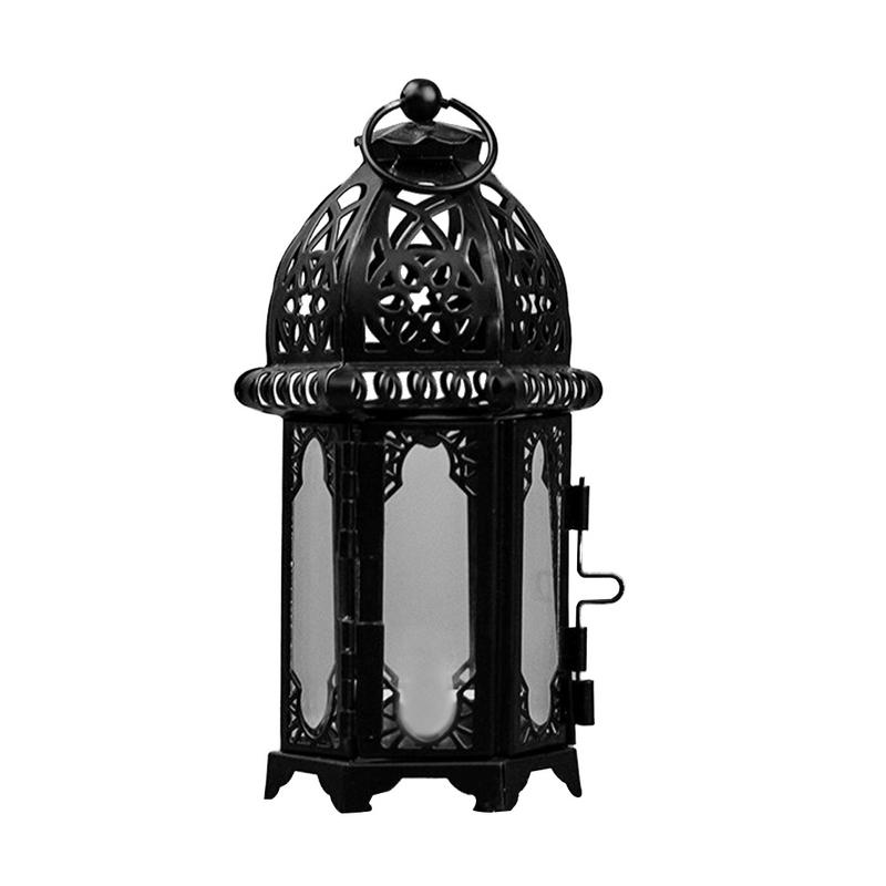 Home & Garden Candles & Holders 1 Piece Fashion Hand-made Iron Moon Shape Wedding Party Candle Holder Candlestick Glass Ball Lantern Hanging Stand Long Performance Life