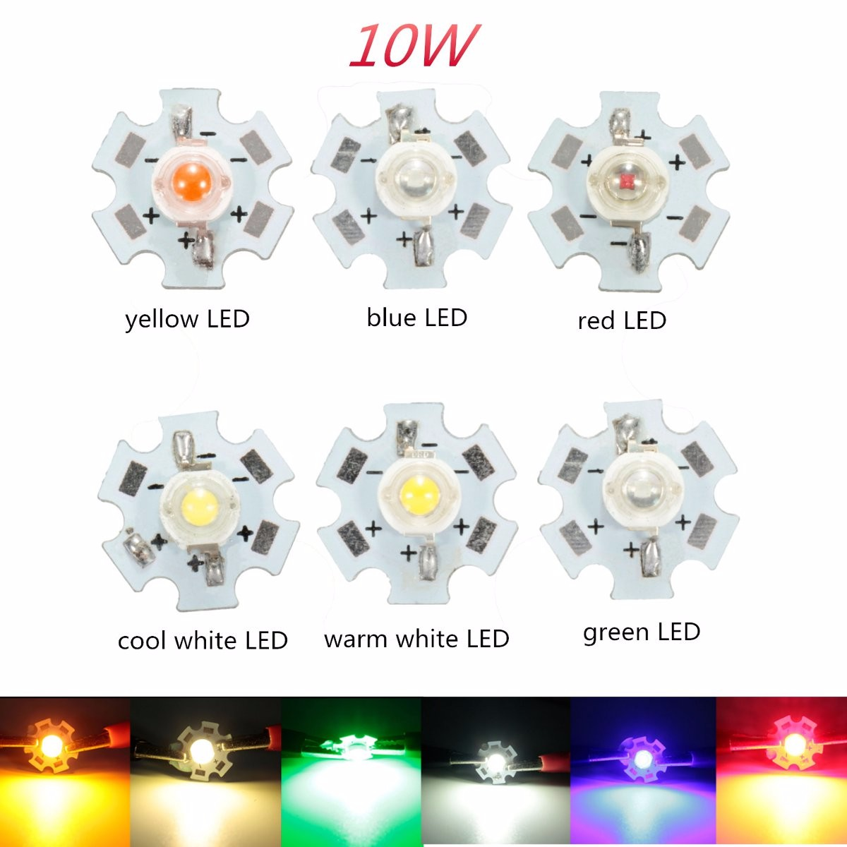 10 W High Power Led Pcb Lampe Licht Perlen Chips Auto Innen Lesen Lampe Aquarium Kühlkörper Neueste Technik