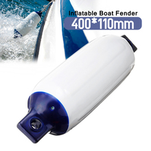 Inflatable Marine-Fender Blue Twin Eye Vinyl PVC 110x400mm Boat Mooring Buffer UV Protected Suitable for Small Boats Durable