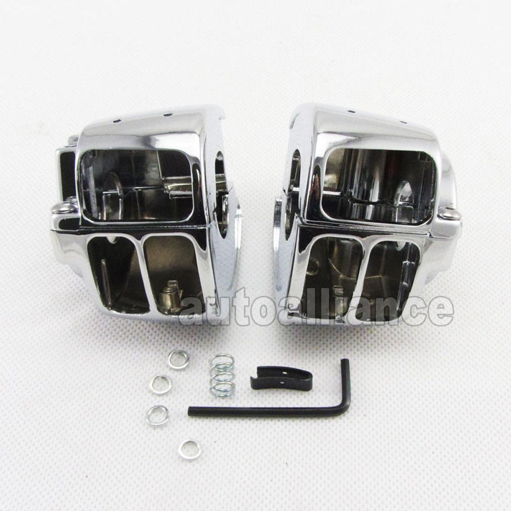 Chrome Switch Housing Cover Cap For Harley Davidson Sportster Dyna Softail Sportster V-rod 96-12