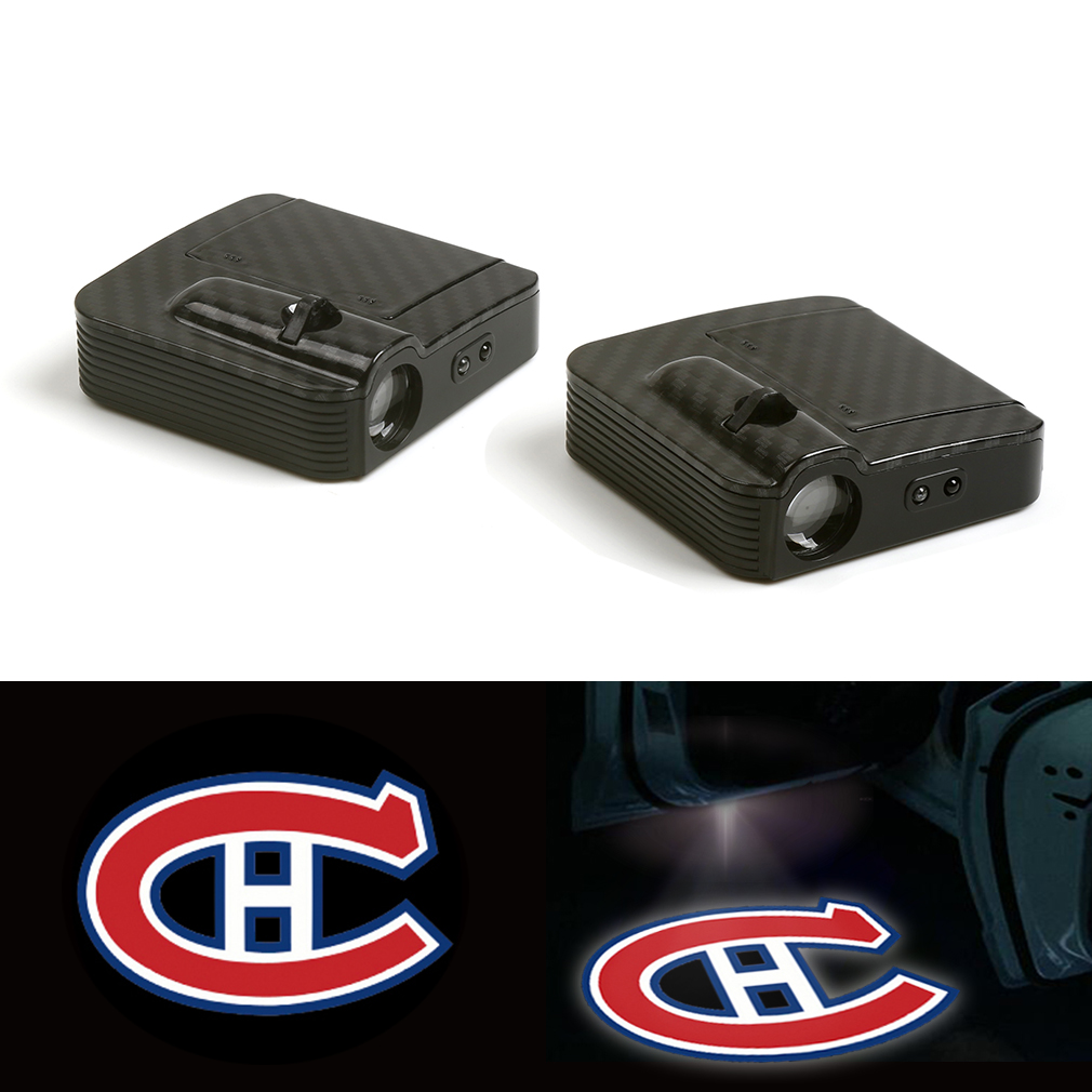 Logo Projector Lamp Car Door Welcome Lights 12V For Montreal Canadiens accessories Logo