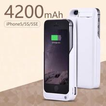 9815a34d80d Extpower caliente 4200 mAh cargador de batería externa para IPhone 5 o IPhone  5 S de 5S SE copia de seguridad externa de carga d.