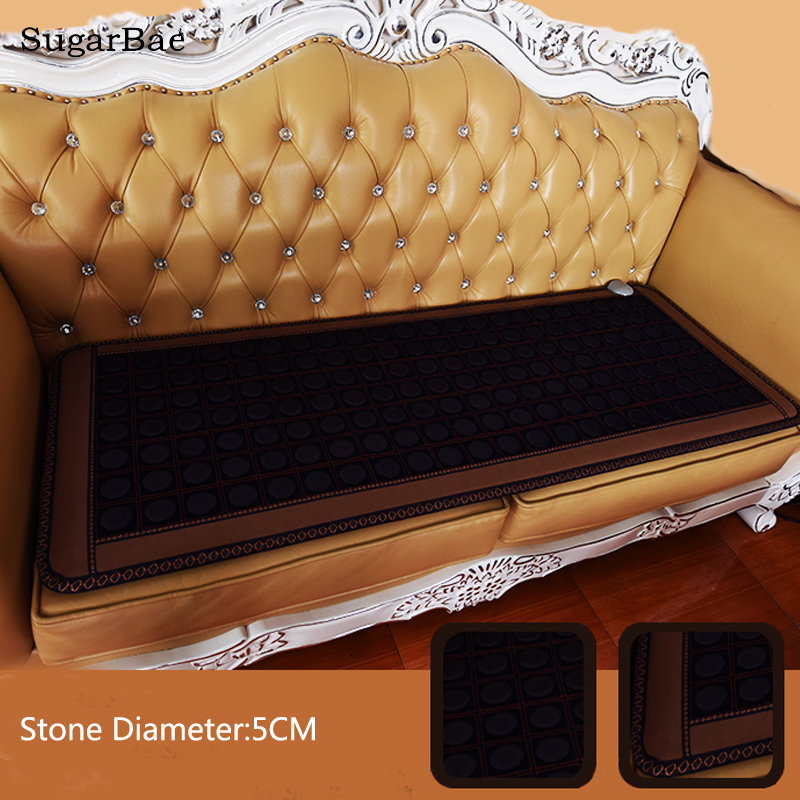 Masaj Electric Heating Pad Body Massager Full Back Pain Relief Thermal Stone Mat Mattress For Sale image